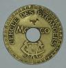 """Monaco Jeton Token 10 FRANCS Tir Aux Pigeons Troué - ST DES BAINS DE MER - """""""" CERCLE Des ÉTRANGERS """""""" # 4 - Monaco"""