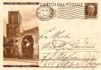 "CARTOLINA POSTALE ""OPERE DEL REGIME - ROMA MERCATI TRAIANEI"" CENT. 30 - 1900-44 Vittorio Emanuele III"