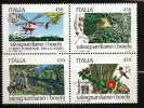 Italie Italia 1984 N° 1611 / 4 ** Hélicoptère, Cigarette, Ecureuil, Lapin, Champignon, Poisson, Grenouille, Papillon - 1946-.. Republiek