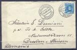 1909 , BALEARES , SOBRE CIRCULADO ENTRE PALMA DE MALLORCA Y DRESDEN EN ALEMANIA , FECHADOR DE PALMA. - 1889-1931 Reino: Alfonso XIII