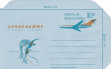 Papua New Guinea 1969 10c Aerogramme  Light Blue And Orange Mint - Papua New Guinea