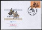 Kyrgyzstan 2014 FDC Duel Single Combat Fauna Horses - Chevaux