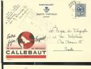 Publibel Obl. N° 1027 ( Le Chocolat CALLEBAUT -  Wieze) Obl: 05/05/1952 - Stamped Stationery
