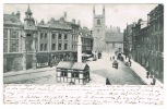 RB 1059 - 1902 Spurgeon Postcard - Market Place & J.S. Salmon Shops - Reading Berkshire - Surrey