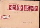 DR 33 Bis 45: Einschreib-Fern-Brief Mit 12+8 Pfg Lübeck, Von OSt. Dresden-Altstadt 35 Nach Aue  Knr: 862 (4) - Deutschland
