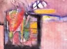 Personnage Post-cubiste.acryliques Sur Papier.vernis(Tesson).feuille : 319 X 239 Mm. - Acryliques