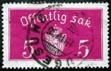 Norway 1934  Minr.10  II   34mm X18,5mm  HAUGESUND  19-4-1935 ( Lot C 158 ) - Service