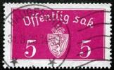 Norway 1934  Minr.10  II   34mm X18,5mm  HAUGESUND  31-8-1936 ( Lot C 159 ) - Service