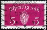 Norway 1933  Minr.10  I   3mm X19,5mm  STAVANGER  12-11-1935 ( Lot C 241 ) - Service