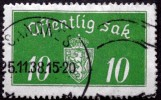 Norway 1934  Minr.12  II   34mm X18,5mm SANDNES  25-11-1938  ( Lot C 247 ) - Service