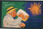 PUBLICITES - Jolie Carte Fantaisie Pub. Pour BIERE DE MAXEVILLE - GRANDES BRASSERIES REUNIES DE MAXEVILLE NANCY - Publicité