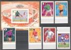 AJMAN  World Cup-70 Set 6 Stamps+ S/Sheet  Imper. Overpr.    MNH - World Cup