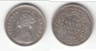 **** BRITISH INDIA - INDES ANGLAISES - 2 ANNAS 1862 - TWO ANNAS 1862 VICTORIA - SILVER - ARGENT **** ACHAT IMMEDIAT !!! - Colonies