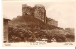 The Castle, Criccieth, Wales  Real Photo Glue Marks On Back