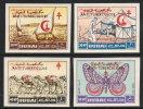 ~~~ Dubai 1964 - Butterflies Tuberculose IMPERFORATED - Mi 121/124 ** MNH ~~~ - Dubai
