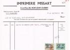 Mont-Saint-Guibert - Facture Imprimerie Missart De 1965 - Drukkerij & Papieren