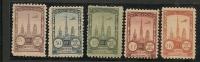 AEROPHILATELIE - 1922  ROUEN AVIATION MEETING - Sanabria # 308/312 Complete Set - * MINT H - Luchtpost