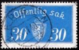 Norway 1933  Minr.16 I   35mm X19,5mm BERGEN 5-11-1940  ( Lot C 269 ) - Dienstmarken