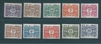 Timbres Des Cote De Somalis  Timbres Taxes  N°44 A 53  Neufs * - French Somali Coast (1894-1967)