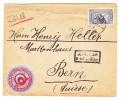 Türkei Constantinople Briefmarken Handler Vignette Auf Brief Nach Bern Mit AK-Stempel Bern 26.1.1918 - 1921-... République