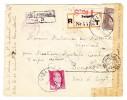 Türkei R-Brief Sisli Pangalti Stamboul 18.10.1943 Mit Zensur Nach Bengazi - 1921-... République