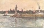 Illustrateur E. SALA - FARO DI DESENZANO En 1918 - Italia