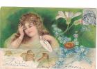 25024 Enfant Fillette Amour Fleur -série Relief - Effeuiller Marguerite : Pas Du Tout -KF Paris Série746