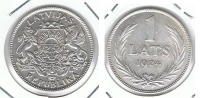 LETONIA LATS 1924 PLATA SILVER P - Letonia