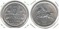 LITUANIA 5 PENKI LITAI 1925 PLATA SILVER P - Lituania