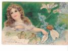 25026 Enfant Fillette Amour Fleur -série Relief - Effeuiller Marguerite : Passionnement -KF Paris Série746