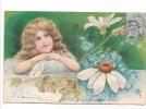 25027 Enfant Fillette Amour Fleur -série Relief - Effeuiller Marguerite : Beaucoup -KF Paris Série746
