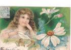 25028 Enfant Fillette Amour Fleur -série Relief - Effeuiller Marguerite : Un Peu  -KF Paris Série746