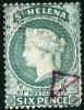 ST. HELENA, COLONIA INGLESE, BRITISH COLONY, COMMEMORATIVO, QUEEN VICTORIA, 1889, FRANCOBOLLO USATO - Isla Sta Helena