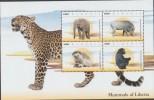 RO)2014 LIBERIA - AFRICA, ELEPHANT, WARTHOG, TOED, CHIMPANZEE, MAMMALS, S/S, MNH - Liberia