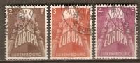 LUXEMBOURG    -   EUROPA    -   1957 .  Y&T N° 531 à 533 Oblitérés. - Europa-CEPT