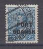 (00868) Danzig Port Gdansk 24 B Gestempelt Geprüft - Dantzig