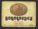 Etiquette De Vin  De Table  -  Burgrandes  -  Thème Personnage Cave  -   Soréal  à  Champsbilloux (14) - Etiquettes