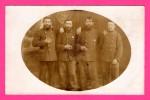 Carte Photo - Hommes Barbus - Barbe - Militaires - J. WALDEMAR JACOBSEN - Avec Cachet Rond P.7 - Militaria