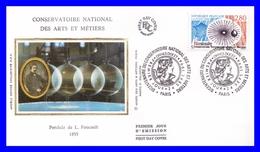 2904 (Yvert) Sur FDC Soie - Bicentenaire Du Conservatoire National Des Arts Et Métiers Pendule De Foucault - France 1994 - FDC