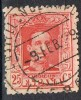 Sello 25 Cts Alfonso XIII Vaquer, Fechador CASTELLÓ De AMPURIAS (gerona), Num 317 º - 1889-1931 Reino: Alfonso XIII