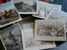 """""""Vieille Angleterre""""  Par Marcel Astruc (ensemble De 12 Planches N&b Et Couleurs 24x33cm Ex Folio  1945 - Art"""