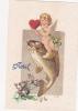 CPA Ange Angelot Angel Chérubin 1er Avril Poisson Fish Illustrateur Fantaisie - Angels