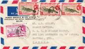 Postal History Cover: British Honduras Lobster Stamps On Cover - Marine Life