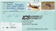 Postal History Cover: Belize Insect, Plane Stamps On R Cover - Insects
