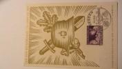 DR 33-45: Vordruck-Karte  6 Pfg Zum Tag Der Briefmarke 1942 Mit SoSt. Aus Dresden 11.1.42, Rs Aus Riesa 12.1.42 Knr: 811 - Deutschland