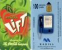 Telefonkarte Bulgarien - Mobika - Werbung - Coca Cola - Lift    -  100 Units - Bulgarien
