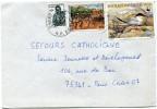 BENIN LETTRE DEPART PORTO-NOVO ?-?-1990 R. P. DU BENIN POUR LA FRANCE (AFFRANCHISSEMENT DONT 1 TIMBRE WWF) - Bénin – Dahomey (1960-...)