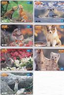 SERIE NUMEROTEE De 16 Cartes Japon OISEAUX   OISEAU  - LOT COMPLETE SET 16 Japan Cards BIRD BIRDS VÖGEL - 4093 - Tarjetas Telefónicas