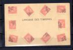 Le Langage Des Timbres Sur Cartes Postales  Philatéliques - 1869-1883 Leopoldo II