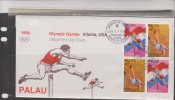 O) 1996 PALAU, OLYMPIC GAMES ATLANTA USA 1996, BOB MATHIAS, FANNY BLANKERS - MEDALIST, FDC XF - Palau